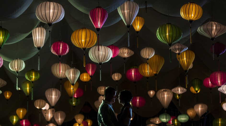 Romantic Beach Wedding with Different Colored Lanterns | Hoi An, Vietnam