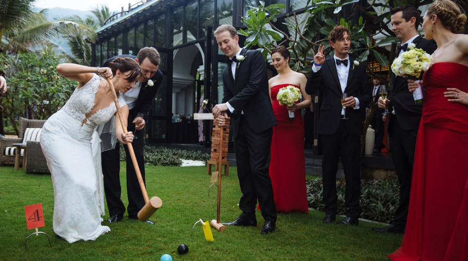 Luxury Wedding with Croquet Game | Hoi An, Vietnam