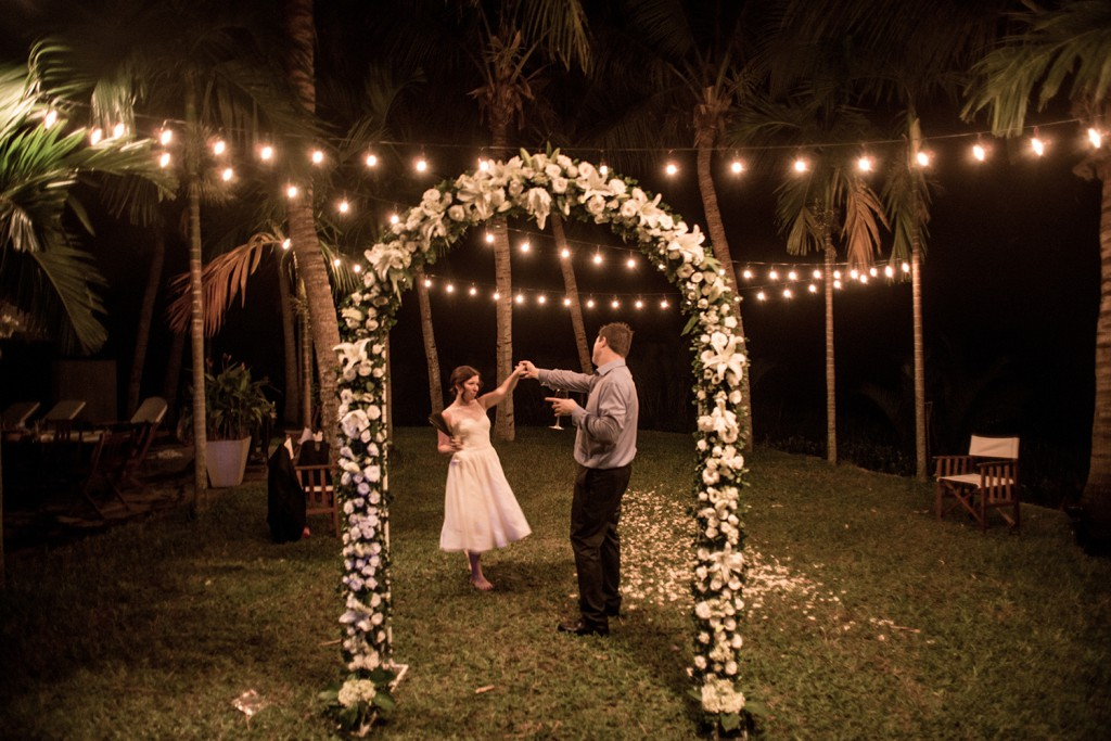 A wedding in paradise hoi an events weddings more riverside wedding with fairy lights and flower arch hoi an vietnam junglespirit Gallery