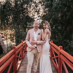 Couple Wedding Red Bridge Hoi An